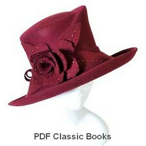 Millinery-Hat-Making-Patterns-Designs-Instructions-How-to-Make-Hats-18-Books-CD