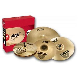 Sabian AAX Xplosion Cymbal Pack Set 14 Hi Hat, 16 & 18 Crash, 20 Ride + Bag