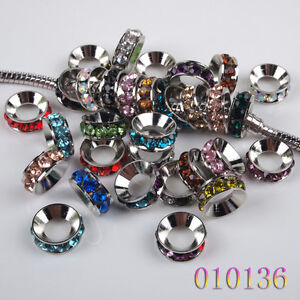 New Wholesale Lots Mixed Colorful European Large Hole Bead Fit Charm Bracelet