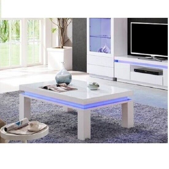Lenovo Coffee Table In White High Gloss With Led Lights 187 In Farnworth Manchester Gumtree