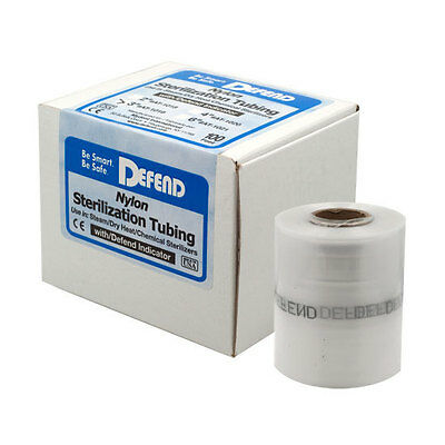 Defend 2 Inch Nylon Sterilization Tubing W Defend Indicator Ink 100 Ft Roll