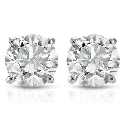 1ct Diamond Studs 14K White Gold