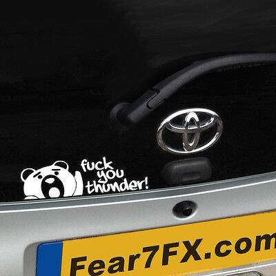 TED Movie F* You Thunder Funny Car Van Window Decal Sticker Wall Laptop PC VW
