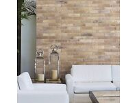 BRICK EFFECT, PORCELAIN TILE BRISTOL CREAM with Frost Proof and Anti-Slip rating!