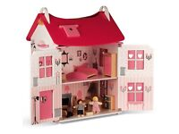 Janod wooden DOLLS HOUSE Boxed