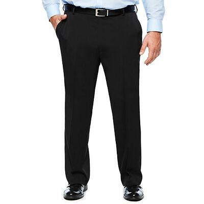 NWT VAN HEUSEN MEN'S BLACK TRAVELER DRESS PANTS SIZE 56 X 32