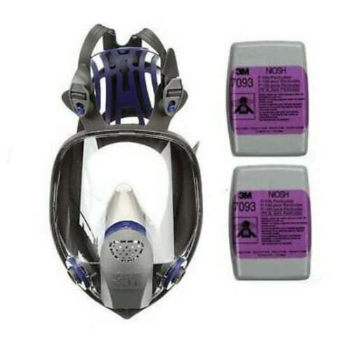 3M FF-403 Ultimate FX Full Face Respirator & 1 Pair 7093 P1OO Filter LARGE