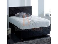 Kingside divan base/four drawers and free standing headboard