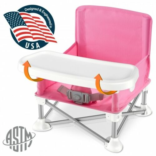SereneLife SLBS66P Portable Baby, Toddler Seat Booster High Chair