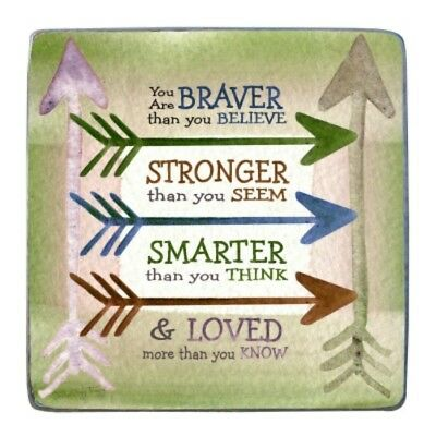 You Are Stronger... Standing Metal Plaque NEW Gift Confirmation Graduation Boxed