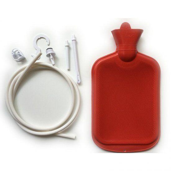 Water Bottle Clean Kit Enema Anal kit Bag Rubber Personal Health Cleanse 2000ML