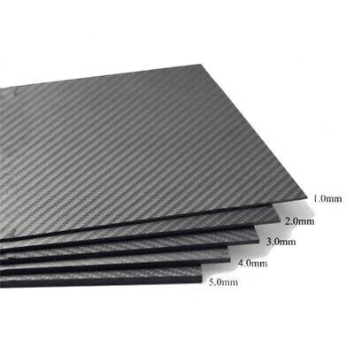 100% Real Carbon Fiber Plate Panel Sheet 3K Plain Weave Glossy 16
