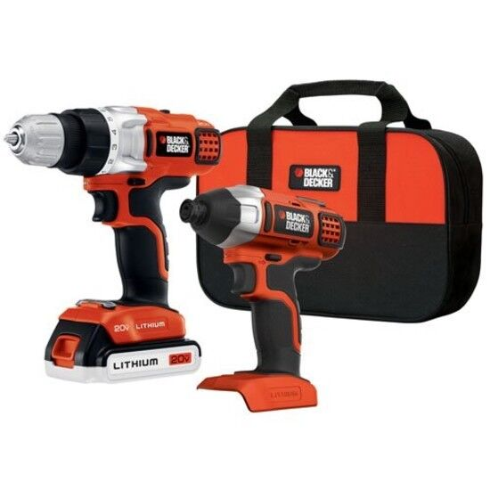 BLACK+DECKER Drill Driver Impact Combo Kit 20v Lithium Screw