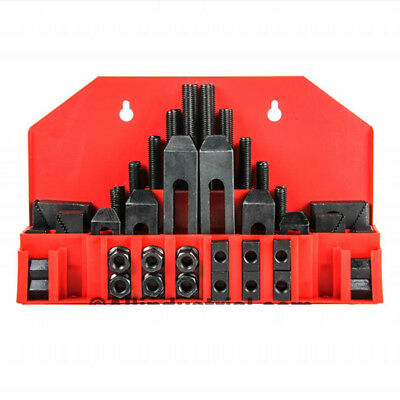 58 Pc Pro-series 716 T-slot Clamping Kit Bridgeport Mill Set Up Set 38-16