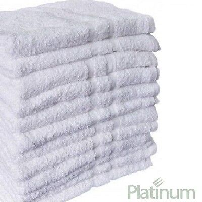 12 NEW POLY COTTON Motel BATH TOWELS 24X50 PLUSH PLATINUM PREMIUM