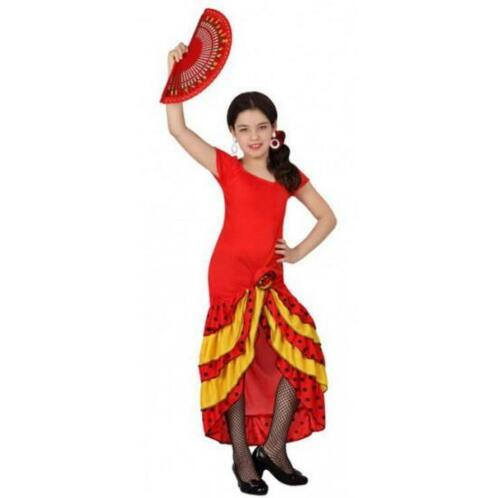 de7dae47667842 ≥ Rode Flamenco verkleedjurk voor kids - Spaanse kleding ...