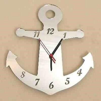 Anchor Clock - Acrylic Mirror (Several Sizes Available)
