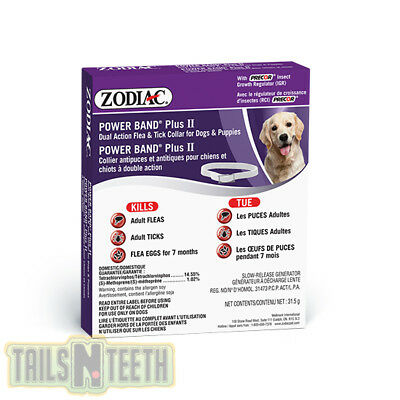Zodiac PowerBand Plus II - Dual Action Flea & Tick Collar for Dogs & Puppies