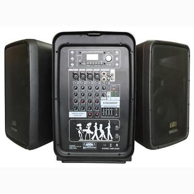 Pyle PPHP898MX Bluetooth PA Speaker & Amplifier Mixer System, 8-Ch. Audio Mixer Audio System Amplifier