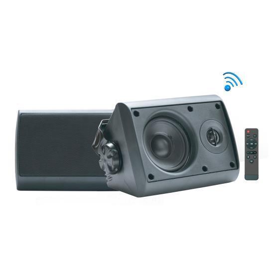 Pyle Bluetooth Indoor/Outdoor Wall Mount Speakers - Waterpro
