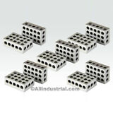 """5 MATCHED PAIRS ULTRA PRECISION 1-2-3 BLOCKS 23 HOLES .0001"""" MACHINIST 123"""