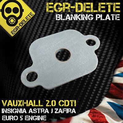 Vauxhall Insignia Astra J Mk 6 Zafira  2.0 & 1.6 CDTi EGR Blanking Plate Delete