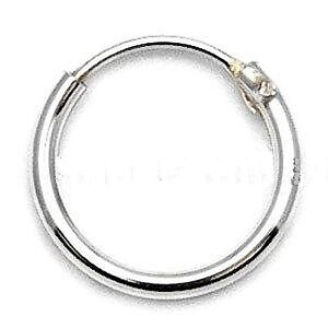 mens sterling silver hoop earrings mens small 925 sterling silver hinged ear hoop sleeper 8mm 4430