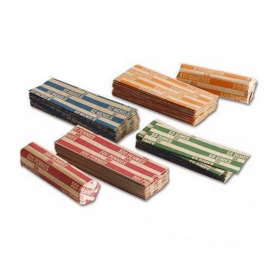 40 Coin Wrappers - any combination: Penny, Nickel, Dime, Quarter    You Choose!