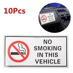 10Pcs Waterproof NO SMOKING IN THIS VEHICLE Warning Sign ...
