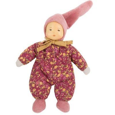 Moulin Roty - Petit Chose Pink Latex Hand Painted Rattle Doll Baby Toy