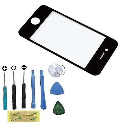 Front Repair Glass Screen Replacement for BLACK iPhone 4gs 4 G 4th W/ Tool combo on Rummage