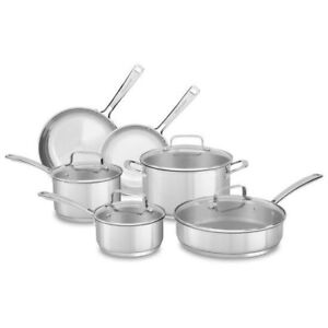 Kitchenaid Stainless Steel 10-piece Pots and Pans Set