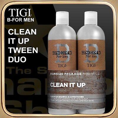 CLEAN UP Shampoo Conditioner (2x750ml) B FOR MAN TIGI Tween Duo