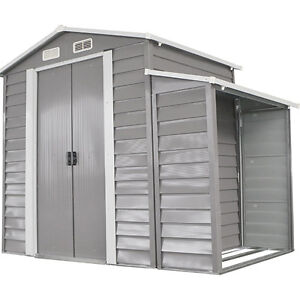Outdoor 8' x 5' Backyard Garden Storage Shed Utility Tool Patio Lawn Buliding