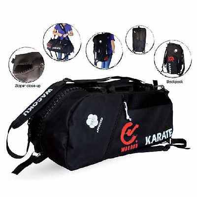 WKF Approved Karate Sports Duffel Gear Bag & Rucksack Backpack Kit Gym Training