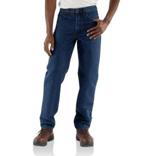 NWT Carhartt FR Jeans Dungaree FRB160 - Flame-Resistant Denim Relaxed 46 x 32