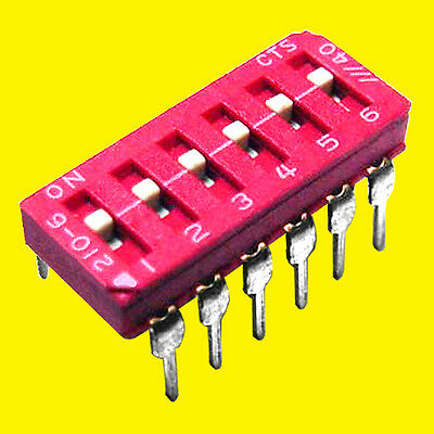 3 6-section Spst Dip Switches -- Meets Ul Mil-std Rating -- Made By Cts
