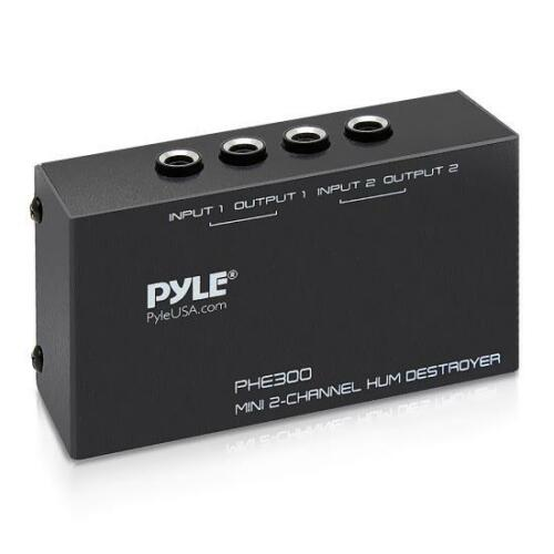 Pyle - PHE300 - 2-Channel Hum Noise Feedback Earth Loop Destroyer
