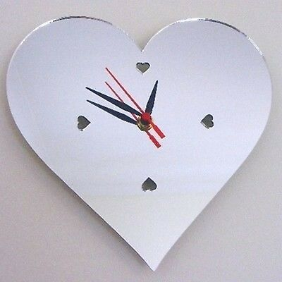 Heart Digits Clock - Acrylic Mirror (Several Sizes Available)