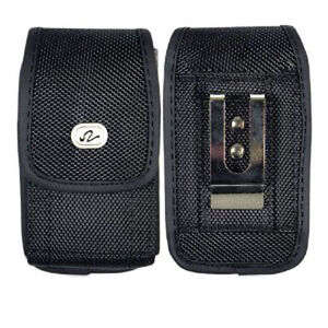 BRAND NEW VERTICAL CELL PHONE CASE WITH METAL CLIP AND BELT LOOP
