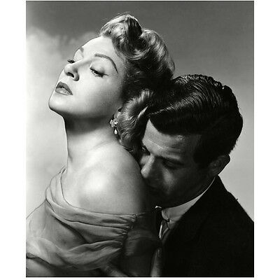 Lana Turner Being Kissed on Shoulder and Held by Man 8 x 10 Inch Photo