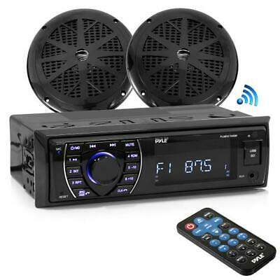 "Bluetooth Marine MP3 / USB / SD Receptor AM / FM Estéreo e 5.25 ""Speaker Kit"