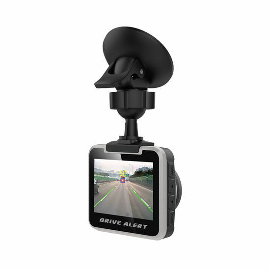 POWER ACOUSTIK Lane Departure/Front Collision Warning System w/ Dash Cam DVALT