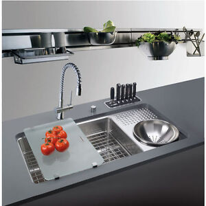 Franke Culinary Work Station Kitchen Sink with Drain Board
