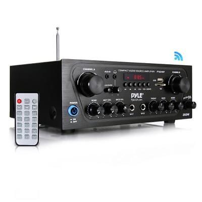 Bluetooth Audio Amplifier, 2-Ch. Audio Source Stereo Receiver System, PTA24BT