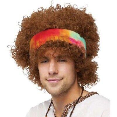 Adult NIP * HIPPIE AFRO WIG * Halloween Costume Wig With Headband](Afro Hippie Halloween Costume)