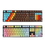 108 Key PBT OEM Profile Rainbow / 1976 Blank Keycaps For ...