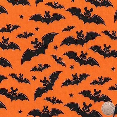 Michael Miller A little Batty Orange Halloween 100% Cotton Fabric By The Yard](Michael Miller Halloween Fabric)