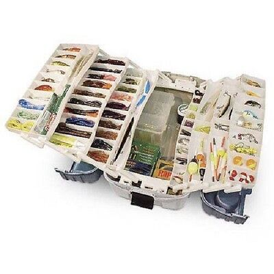 Large Tackle Box Fishing With 7 Tray Full Travel Holder Pack Handle-Locking