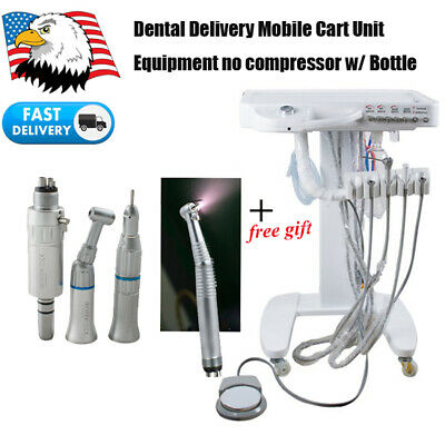 Portable Mobile Dental Delivery Cart Unit Treatment System No Air Compressor 4h